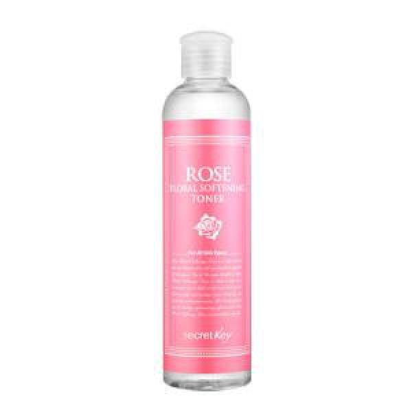 тоник для лица с экстрактом розы тонизирующий secret key rose floral softening tonerRose Floral Softening Toner&amp;nbsp;Тоник для лица с экстрактом розы тонизирующий&amp;nbsp;подходит для всех типов кожи. Розовая вода смягчает и разглаживает кожу, делает ее здоровой и сияющей. Обладает приятным свежим ароматом и снабжает кожу достаточным количеством влаги, заметно успокаивая ее, делая гладкой и здоровой.&amp;nbsp;<br><br>Способ применения: смочите ватный диск тоником и протрите всю поверхность лица после процедуры очищения кожи.<br>