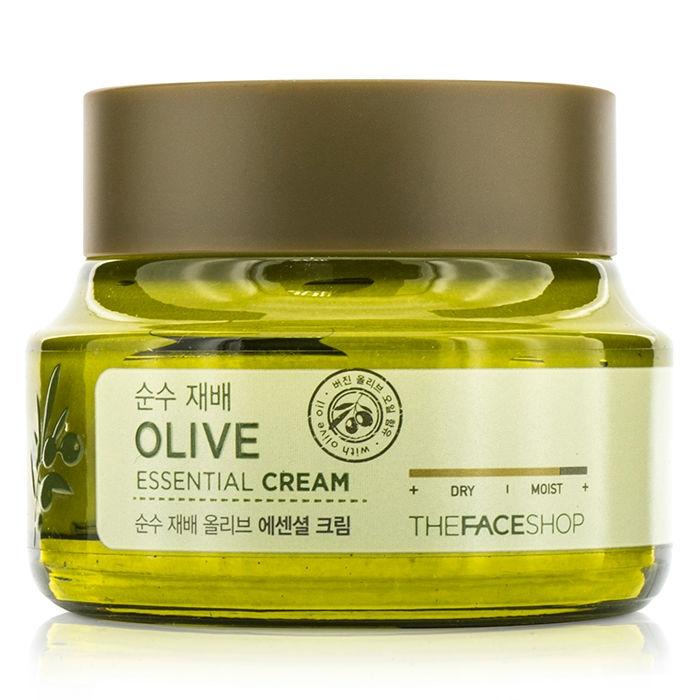 крем для лица оливковый the face shop olive essential creamOlive Essential Cream. Крем для лица оливковый<br><br>В составе которого 100 % органическое масло оливы – великолепное средство по уходу за любым типом кожи, но особенно рекомендуется для сухой, обветренной, склонной к шелушению и стянутости кожи, станет спасением и для увядающей кожи.<br><br>Оливковое масло содержит необходимые для кожи витамины, в том числе, А, Е и В, мононенасыщенные жирные кислоты и другие питательные вещества. Их комплексное воздействие способствует глубокому увлажнению и смягчению кожи, оказывает успокаивающее и регенерирующее действие, защищает кожу от воздействия агрессивных внешних факторов (ультрафиолетовое излучение, сухой воздух и т.д.).<br><br>Регулярное применение крема с оливковым маслом позволяет уменьшить глубину существующих морщин и предупредить появление новых, делает кожу упругой и эластичной, выравнивает рельеф кожи, улучшает цвет лица.<br><br>Также в составе крема масло ши, гиалуроновая кислота, пантенол и каррагинан, которые усиливают увлажняющее действие крема, способствуют удержанию влаги в коже, оказывают заживляющее и успокаивающее действие.<br><br>5 Free system – в составе крема НЕТ искусственных красителей, бензофенона, минеральных масел, компонентов животного происхождения, триэтаноламина.<br><br>Способ применения: Лёгкими движениями нанести крем на очищенную кожу лица.<br><br>Объем: 50 мл<br>