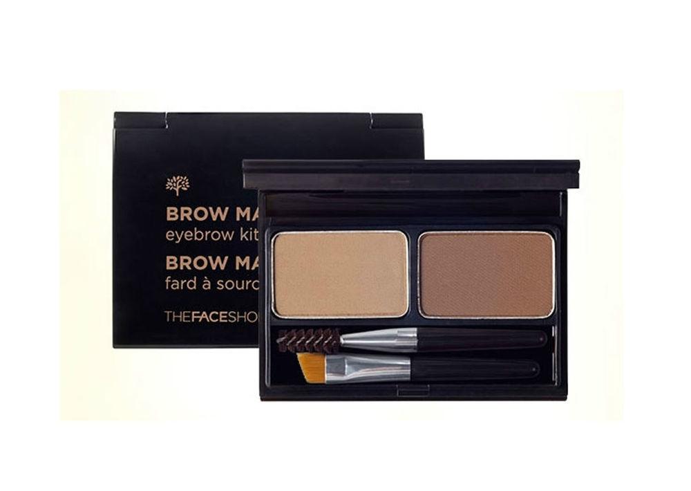 палетка для макияжа бровей the face shop browmaster eyebrowBrowmaster Eyebrow. Палетка для макияжа бровей<br><br>Тени для бровей придают четкий естественный цвет Вашим бровям.<br><br>Набор из 2-х цветов с мягкой шелковистой текстурой поможет создать оттенок, соответствующий с Вашими тоном кожи и волосами, с помощью смешивания цветов.<br><br>Порошковое покрытие обеспечивает устойчивость к поту и кожному салу.<br><br>Мини-скошенная кисть и мини-щеточка в комплекте.<br><br>Оттенки:<br><br><br>01 BEIGE BROWN - бежево-коричневый<br><br>02 GRAY BROWN - серо-коричневый<br><br><br>Способ применения: Расчешите брови с помощью щёточки. Далее наберите на кисточку немножко теней и распределите небольшое количество теней по линии роста бровей, при этом немного растушевывая их<br><br>Вес:&amp;nbsp;4 г<br><br>&amp;nbsp;<br><br>Вес г: 4.00000000
