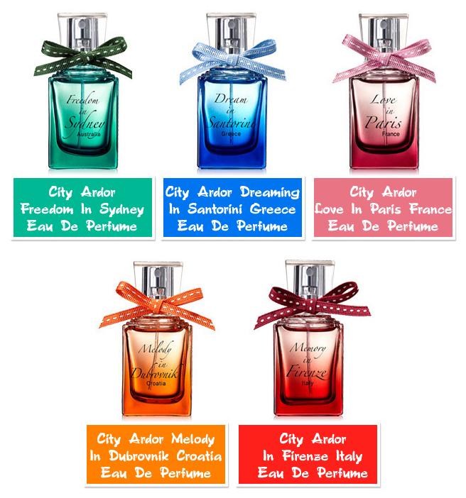 парфюмированая вода женская the saem city ardor eau de perfumeCity Ardor Eau De Perfume. Парфюмированая вода женская<br><br>В женщине все должно быть прекрасно, и косметологи предлагают дополнить безупречный макияж и восхитительный маникюр нотками парфюмированной воды, которая окутает ароматным шлейфом, поднимет настроение и, вполне возможно, сведет с ума ни одного мужчину!<br><br>Вода представлена 5 ароматами, каждый из которых индивидуален и неповторим:<br><br><br>01 The Saem City Ardor Freedom In Sydney Eau De Perfume – аромат, идеальный для осеннее-зимнего сезона<br><br><br>Парфюмированная вода окутает тело теплом, напомнит о прекрасных моментах, наполнит запахом свободы и азарта. Аромат оценят те, кто не любит быть, как все, предпочитает индивидуальный стиль и нетривиальный образ мыслей. Аромат наполнен нотками коньяка и диких терпких растений. Гармоничное сочетание всех компонентов создает изысканный аромат, который придется по душе и смелым, дерзким женщинам, и свободолюбивый мужчинам. Парфюмированная вода перенесет на шумные и жизнерадостные улицы Сиднея.<br><br><br>02 The Saem City Ardor Dreaming In Santorini Greece Eau De Perfume – соблазнительный аромат Средиземноморья<br><br><br>Мечтаете побывать на солнечном греческом острове Санторини? Однако, отпуск еще не скоро, а душа просит чего-то романтичного уже сейчас? Парфюмированная вода со свежим ароматом лимона и мяты, как свежее дыхание морского прибоя, окутает вас. Свежие нотки смешиваются со сладким ароматом персика, дополняются потрясающим миксом жасмина, розового перца и пиона. И завершается все это аккордом манящих сладких и мускусных ароматов. Парфюм из лимитированной серии идеален для чувственной и мечтательной барышни.<br><br><br>03 The Saem City Ardor Love In Paris France Eau De Perfume – аромат любви и романтики Парижа<br><br><br>Головокружительный аромат любви, который можно ощутить только на улочках Парижа. Вибрирующие цветочные нотки окаймляют и согревают волнующие ароматы сандала, ванили и му