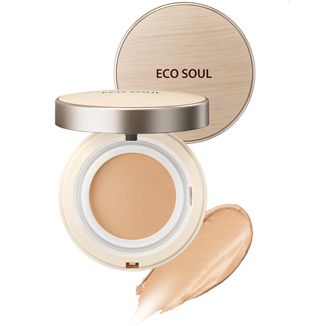 тональное покрытие the saem eco soul cover stay foun balm