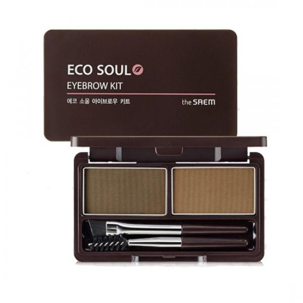 пудра для бровей the saem eco soul eyebrow kitEco Soul Eyebrow Kit. Пудра для бровей<br><br>Пудра используется для создания максимальной выразительности бровей. Косметическое средство просто и быстро наносится, распределяется в равномерном количестве, смотрится натурально и красиво. Придаёт бровям недостающий объем, помогает подкорректировать длину, акцентировать контур, изменить природный изгиб.<br><br>Помимо декоративной функции, пудра оказывает полезное ухаживающее воздействие.<br><br>Благодаря натуральным компонентам в составе средства, брови укрепляются, повышается их эластичность. Средство хорошо держится в течение всего дня и не размазывается.<br><br>Благодаря уникальной формуле со специальными частичками, пудра для бровей обладает легкой текстурой, активно впитывает себум и гармонично дополняет образ.<br><br>В комплекте предлагается удобная кисточка для аккуратного нанесения средства и спиралевидная щеточка, помогающая расчесывать брови и создавать нужную форму.<br><br>Палетка выпускается в 2 вариантах:<br><br><br>01 Brown - коричневый<br><br>02 Gray Brown - серо-коричневый<br><br><br>Применение: При помощи щеточки приподнимите брови вверх, создайте нужный контур, нанесите средство кисточкой быстрым линейным движением. Расчешите накрашенную бровь, после чего окончательно уложите волоски, дополнительно зафиксировав их гелем.<br><br>Вес г: 5.00000000