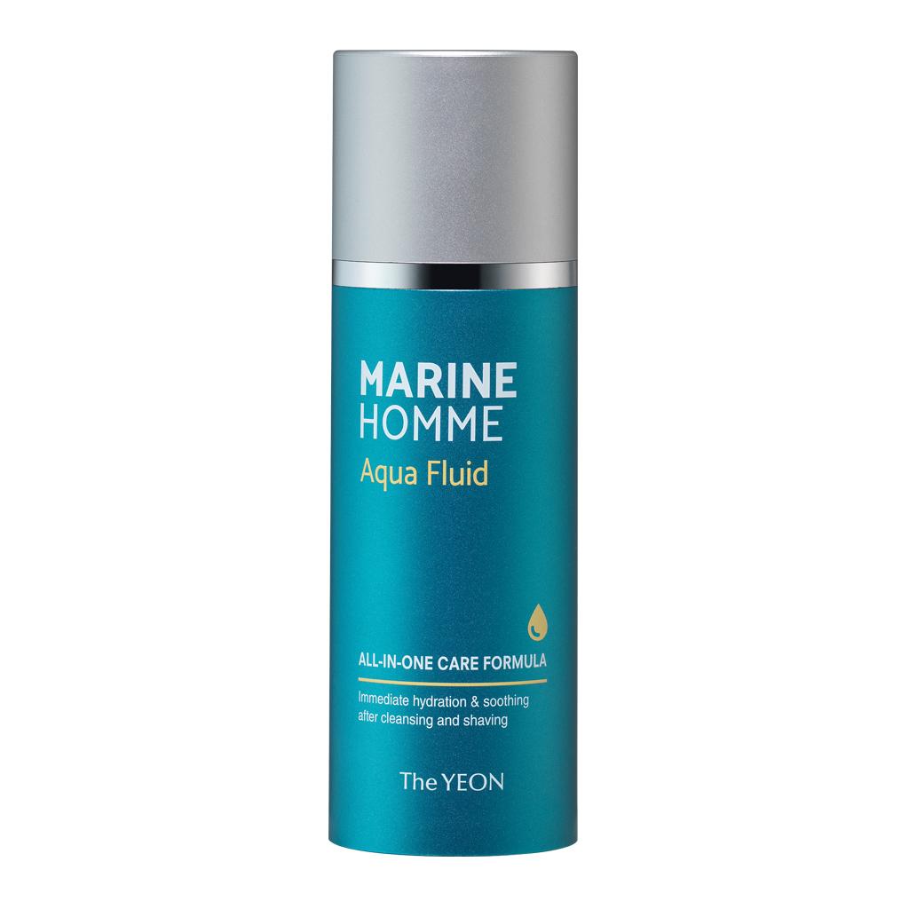 флюид для лица мужской the yeon marine homme aqua fluidMarine Homme Aqua Fluid. Флюид для лица мужской<br><br>Тонер и эмульсия в одном продукте. Имеет прохладный освежающий аромат. Прекрасно увлажняет и успокаивает кожу после бритья и очищения. Не оставляет липкости на коже лица.<br><br><br>Морская вода богата питательными веществами и минералами.<br><br>Экстракты гамамелиса, лаванды и ромашки быстро успокаивают раздраженную кожу.<br><br>Экстракты листьев дуба, центеллы азиатской стимулируют кожу.<br><br><br>Меры предостарожности:<br><br><br>Только для наружного применения.<br><br>Не использовать на поврежденной коже.<br><br>Использовать только по назначению.<br><br>Прекратите использование при возникновении раздражения.<br><br>Избегать контакта с глазами.<br><br><br>Способ применения:&amp;nbsp;Возьмите необходимое количество и нанесите после очищения, слегка похлопывая кожу.<br><br>Объем: 120 мл<br>