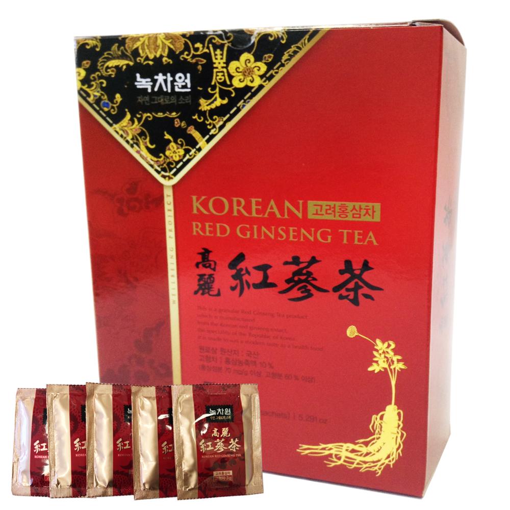 напиток из красного женьшеня в гранулах nokchawon korean red ginseng teaНапиток из красного женьшеня Nokchawon – великолепный продукт для поддержания жизненных сил превосходным вкусом и ароматом настоящего красного женьшеня. Корейский красный женьшень стимулирует центральную нервную систему, умственную и физическую работоспособность, уменьшает слабость, сонливость и повышенную утомляемость, нормализует артериальное давление и снижает уровень холестерина и глюкозы в крови, стимулирует половую функцию.<br><br>&amp;nbsp;<br><br>&amp;nbsp; &amp;nbsp;Семь чудесных свойств Чая из Корейского Красного Женьшеня:&amp;nbsp;<br><br>1. Корень женьшеня восстанавливает силы и снимает усталость, улучшает общее физическое состояние, что важно при повышенной умственной и физической работе, для пожилых людей и людей в период восстановления после болезни.<br>2. Регулярный прием женьшеня повышает гемоглобин, что важно при малокровии, улучшает кровообращение, снижает уровень холестерина и нормализует артериальное давление.<br><br>3. Помогает в борьбе со стрессами при хронической усталости, при нервно-психическом истощении, снимает тревогу и успокаивает нервы, возрождает душевные силы.<br>4. Женьшень устраняет обезвоженность организма и чувство жажды, повышает эффективность противодиабетических препаратов и улучшает функцию селезенки, помогает синтезировать инсулин в B-клетках поджелудочной железы.<br>5. Способствует улучшению работы желудочно-кишечного тракта,&amp;nbsp; укрепляет легкие, способствует выздоровлению при заболеваниях дыхательных путей.<br><br>6. Регулярное употребление чая улучшает потенцию.<br>7. Женьшень выводит токсины, снимает отечность, повышает иммунитет и замедляет процесс старения клеток. Воздействует на все виды раковых клеток. Хорошее средство для профилактики вирусных и инфекционных заболеваний в осенне-зимний период.&amp;nbsp;<br><br>&amp;nbsp;<br><br>Не является БАДом, не содержит ГМО.<br><br>Масса нетто: 150 г. (50 пакетиков саше в гранулах по 3г.)<br><br>Спос