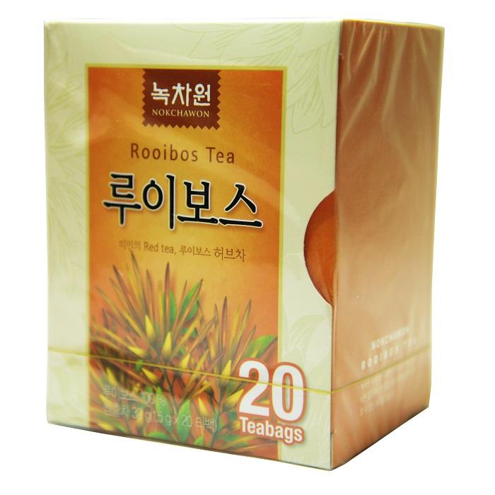 травяной чай из ройбоса в пирамидках nokchawon напиток из кустарника ройбоса