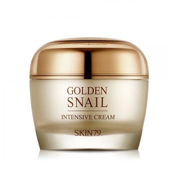 крем с экстрактом улитки skin79 golden snail intensive creamGolden Snail Intensive Cream. Крем с экстрактом улитки<br><br>Насыщенный питательный крем для лица с экстрактом улитки и 24K золотом. Высококонцентрированный питательный крем подарит интенсивное питание и увлажнение Вашей коже. Крем защищает кожу и создает на коже защитный барьер, препятствующий потери влаги в течении целого дня.<br><br>Аденозин и Ниациамид в составе крема улучшают цвет лица и выравнивают рельеф кожи, осветляет веснушки и пигментные пятна, интенсивно увлажняют. Крем питает глубокие слои дермы, насыщает ее витаминами, а редки натуральные растительные экстракты заботятся о красоте и здоровье кожи.<br><br>Крем быстро впитывается и не оставляет липкости или жирной пленки.<br><br>Основные компоненты средства:<br><br><br>Экстракт корейских золотых улиток&amp;nbsp; - восстанавливает и увлажняет;<br><br>Экстракт красного 6-летнего женьшеня – укрепляет кожу, насыщает ее витаминами, повышает местный иммунитет тканей;<br><br>24 каратное золото – улучшает цвет лица, придает коже свежий и здоровый вид.<br><br><br>Способ применения: используйте крем на последнем этапе ежедневного ухода за кожей. Нанесите небольшое количество крема на лицо и/или зону шеи и декольте.<br><br>Объем: 50 мл<br>