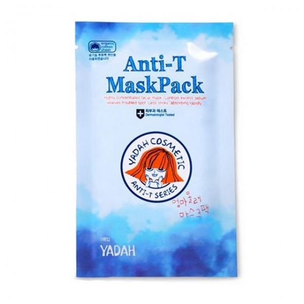 тканевая маска для лица с противовоспалительным действием yadah anti-t maskpackТканевая маска Anti-T MaskPack для лица с противовоспалительным и увлажняющим действием. Маска защищает и восстанавливает раздраженную кожу, предотвращая появление акне.<br><br><br>Экстракт чайного дерева регулирует работу сальных желез, предотвращая появление жирного блеска кожи.<br><br>Экстракт портулака успокоит кожу, сделав ее более мягкой и гладкой. Эвкалипт и мята освежают и тонизируют кожу, оказывая лечебное воздействие.<br><br><br>Способ применения: нанесите на очищенную кожу. Вскройте упаковку и распределите маску на лице. Оставьте на 20-30 минут, затем снимите.<br><br>Вес: 20 г<br><br>Меры предосторожности: избегать попадания в глаза, в случае несовместимости с кожей прекратите использование.<br><br>Характеристики товара<br><br><br><br><br>Возраст<br><br>все; до 25; 25-35; от 35; от 45<br><br><br><br>Компоненты<br><br>чайное дерево<br><br><br><br>Тип кожи<br><br>проблемная; чувствительная; сухая; воспаленная<br><br><br><br>Тип маски<br><br>тканевая<br><br><br><br>Функции<br><br>выравнивание тона; увлажнение; лечение акне; очищение пор; снятие покраснений и раздражения кожи<br><br><br><br>Несовершенства<br><br>акне; пост-акне; жирный блеск; излишняя жирность; раздражение кожи<br><br><br><br><br>&amp;nbsp;<br><br>Вес г: 20.00000000