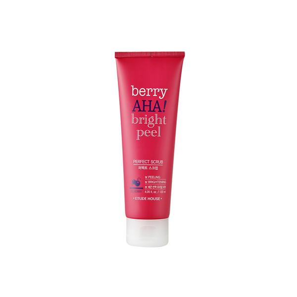 очищающий скраб с aha-кислотами etude house berry aha bright peel perfect scrub