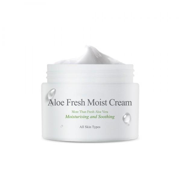 увлажняющий крем с экстрактом алое the skin house aloe fresh moist creamAloe Fresh Moist Cream. Увлажняющий крем с экстрактом алое<br><br>Глубокоувлажняющее средство с вытяжкой алое восстанавливает натуральный уровень влаги в клеточках эпителия, одновременно защищая от обезвоживания.<br><br>Насыщает кислородом клеточки эпителия, проводя активные ингредиенты средства вглубь пор. Алое оказывает выраженное заживляющее влияние на эпителий, устраняя сухость и раздражение, успокоит воспаления, заживляет микроповреждения.<br><br>Возвращает эластику тургора. Может применяться для проблемного типажа, поскольку оказывает противомикробное действие и успокаивает акне. Оказывает восстанавливающее воздействие на эластику тургора, выравнивает оттенок дермы, оздоравливает ее на клеточном уровне.<br><br>В результате устраняются морщинки, вызванные обезвоженностью дермы или возрастными переменами, оттенок дермы оздоравливается. Устраняет признаки усталости и шелушения. Комфортен в использовании, не оставляет липкости или жирности, не препятствует клеточному дыханию.<br><br>Мгновенно впитывается. Подойдет для любого типажа, включая очень сухой и чувствительный типаж, и для проблемного.<br><br>Не содержит ненатуральные красители, парабены, минеральное масло и отдушки.<br><br>Способ применения: Применяется на очищенной дерме после тонера. Нанести на поверхность эпителия и распределить массажными движениями.<br><br>Рекомендовано использовать утром и на ночь для наилучшего эффекта.<br><br>Объем: 50 мл<br>