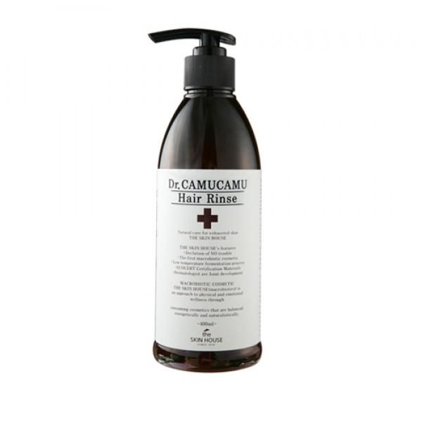 бальзам для волос с экстрактом каму-каму the skin house dr. camucamu hair rinseDr. CamuCamu Hair Rinse. Бальзам для волос с экстрактом каму-каму<br><br>Бальзам для выраженного разглаживания волос, существенно оздоравливает и дарит легкий деликатный блеск. Улучшает состояние эпидермы благодаря содержанию каму-каму, богатому многими витаминами, содержит рекордное число вит. С.<br><br>Это уникальное по наполнению растение насыщенно аминокислотами. Укрепляет корни и успокоит чрезмерно раздраженную, пересушенную эпидерму. Вытяжка из ягод стимулирует поступление множества питательных компонентов к корням, способствует упругости и эластике волос, устраняется сухость, волосы будут блестящими.<br><br>Экстракт алое насыщает влагой очень сухую дерму и устраняет ощущение стянутости после душа, снимает раздражение.<br><br>Рисовые отруби, прошедшие специальную ферментацию, являются запатентованным компонентом и помогают увлажнить.<br><br>Выжимка бутонов пиона, лотоса, лилии, восточной жимолости, семена тыквы пепо, которые содержат много аргинина, фолиевой кислоты и смягчают сухие концы, убирают электризацию и предотвращают сечение. Оздоравливает волосы и делает их сильнее. Волосы преображаются и становятся гладкими и сияющими.<br><br>Характеристики товара<br><br><br><br><br>Компоненты<br><br>экстракт плодов каму-каму<br><br><br><br>Функции<br><br>увлажнение волос<br><br><br><br>Несовершенства<br><br>тусклый цвет волос<br><br><br><br><br>Способ применения:&amp;nbsp;Нанести немного бальзама после мытья и оставить от трех до пяти минут, помассируйте и смойте.<br><br>Объем: 400 мл<br>