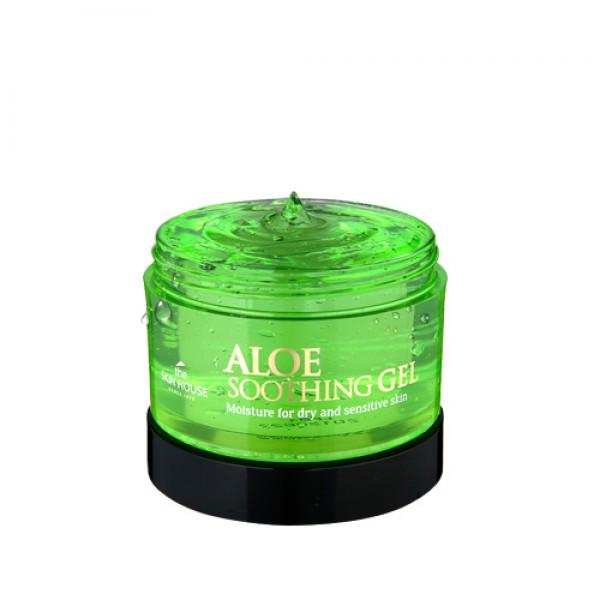 многофункциональный увлажняющий крем-гель с 90% сока алоэ the skin house aloe soothing gelAloe Soothing Gel Многофункциональный увлажняющий крем-гель с 90% сока алоэ<br><br>Особая разработка специалистов компании - гель-крем с высоким содержанием экстракта алоэ (90%), способствует глубокому увлажнению кожи, ее оптимальному насыщению полезными микроэлементами, витаминами.<br><br>Продукт необычайно заботлив - он нормализует pH уровень кожи, защищает от агрессивных воздействий со стороны внешних факторов, а также повышает эластичность дермы и выравнивает ее текстуру.&amp;nbsp;<br><br>Среди ингредиентов средства:<br><br><br>Аденозин - особый элемент, он необычайно мощный представитель среди антивозрастных ингредиентов. Он осветляет, подтягивает дерму, выравнивает ее тон, а также удаляет темные пятна, пигментацию, повышает уровень гладкости, разглаживает текстуру, а также смягчает, укрепляет каркас кожи. Ингредиент выделяется среди прочих тем, что замедляет процессы старения на уровне клеточного обмена веществ и усиливает формирование своих собственных эластина, коллагена;<br><br>Экстракт алоэ, который получен из растения, имеющего богатый химический состав, благодаря чему прекрасно увлажняет ткани, питает их, ускоряя регенерацию, устраняя аллергические проявления, снимая различные раздражения и придавая коже упругость, эластичность, улучшая цвет лица. Экстракт придает коже нежность и гладкость, а также обладает антибактериальными, заживляющими свойствами, к тому же он богат витаминами, аминокислотами, минералами, наполняющими дерму энергией, укрепляющими ее защитный барьер.<br><br><br>Особая гелевая текстура обладает необычайной легкостью, благодаря чему продукт мгновенно проникает в наиболее глубокие слои кожи, увлажняя ее, насыщая влагой изнутри.<br><br>Продукт подходит для всех типов кожи, включая наиболее чувствительную. Характеризуется как питательный, даже для особо сухой и требовательной кожи, не вызывает раздражений, и что очень радует - не оставляет никакого ли