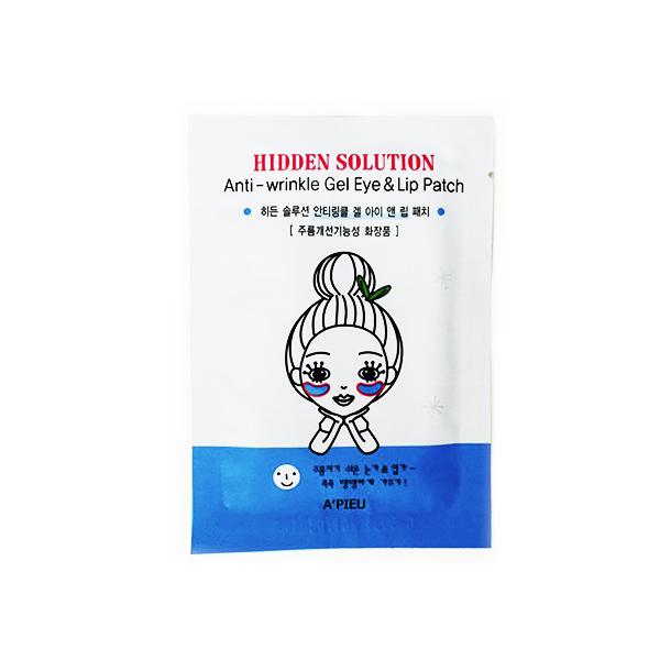 гелевые патчи против морщин вокруг глаз и губ apieu hidden solution anti-wrinkle gel eye lip patchHidden Solution Anti-wrinkle Gel Eye Lip Patch. Гелевые патчи против морщин вокруг глаз и губ<br><br>Гелевые патчи против морщин вокруг глаз и губ повышают эластичность и упругость кожи, разглаживают, дарят здоровое сияние.<br><br>Основные активные ингредиенты патчей: аденозин, экстракт ягод асаи бери, экстракт черники, экстракт малины, экстракт ежевики.<br><br>Ягоды асаи содержат широкий спектр питательных веществ, минералов, а также редко встречающихся групп витаминов.&amp;nbsp;Антоцианы (растительные пигменты), содержащиеся в ягодах асаи, уменьшают разрушение клеток кожи, противодействуют процессу старения. Как источник жирных кислот, экстракт ягод асаи питает и оздоровляет кожу. Фитостеролы регулируют липидную активность верхних слоев кожи, стимулируют регенерацию клеток и используются для лечения дерматитов.<br><br>Аденозин - аминокислота, которая формируется в клетках путем метаболической клеточной энергии и способствует избавлению от морщин, оказывает сосудорасширяющее и антиагрегантное воздействие, улучшает макро- и микроциркуляцию, определяет благоприятное воздействие на трофику тканей и процессы регенерации. Входит в состав важнейших коферментов, регулирующих окислительно-восстановительные процессы в клетках. Наряду с прочими функциями он способствует активной выработке коллагена.<br><br>Способ применения: На чистую кожу наложить патчи. Использовать в области губ и глаз. Подержать на коже 20-30 минут, затем удалить. Остатки эссенции не смывать.<br><br><br>Характеристики товара<br><br><br><br><br>Возраст<br><br>от 25-35; от 35; от 45<br><br><br><br>Компоненты<br><br>аденозин<br><br><br><br>Тип кожи<br><br>увядающая<br><br><br><br>Тип маски<br><br>патч<br><br><br><br>Функции<br><br>антивозрастной уход; повышение упругости; повышение эластичности; разглаживание морщин<br><br><br><br>Несовершенства<br><br>потеря упругости; морщины<br><br><br><br><br><br>Вес: 1 г<b