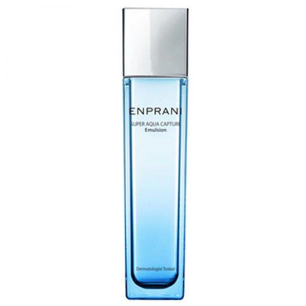 интенсивно увлажняющая эмульсия enprani super aqua capture emulsionИнтенсивно увлажняющая эмульсия Super Aqua Capture Emulsion эффективно увлажняет кожу лица, предохраняя от потери влаги и создает на поверхности кожи защитный слой, препятствующий потере влаги. Обладает сильными антиоксидантными свойствами, улучшая доставку питательных веществ в глубокие слои дермы, защищая кожу от потери влаги и чрезмерного пересушивания.<br><br>Эмульсия быстро впитывается, не оставляя эффекта липкости, обеспечивая гладкость и мягкость Вашей коже.<br><br>Содержит комплекс платины, благодаря которой сохраняется способность сохранять влагу, тем самым, оказывая заметное омолаживающее действие. Эффективно восстанавливает сухую кожу лица, улучшает циркуляцию, выравнивая цвет лица. Средство защищает кожу от агрессивного воздействия окружающей среды.<br><br>Не содержит минеральных масел.<br><br>Способ применения:&amp;nbsp;нанесите необходимое количество эмульсии после применения тоника легкими похлопывающими движениями, оставьте до полного впитывания.<br><br>Объем: 120 мл<br><br>Характеристики товара:<br><br><br><br><br><br>Возраст<br><br>от 25 и старше<br><br><br><br>Тип кожи<br><br>нормальная<br><br><br><br>Серия<br><br>Super Aqua<br><br><br><br><br><br>&amp;nbsp;<br>